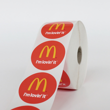 Free sample factory made custom adhesive roll label sticker printing customized round logo vinyl sticker print