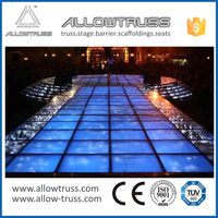 2016 hot sale cheap portable aluminium stage , acrylic wedding stage