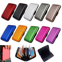 color aluminum credit card holder