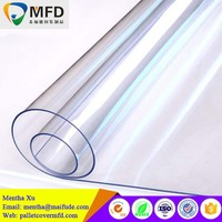 2017 hot new products 1mm price super clear color roll soft pvc film
