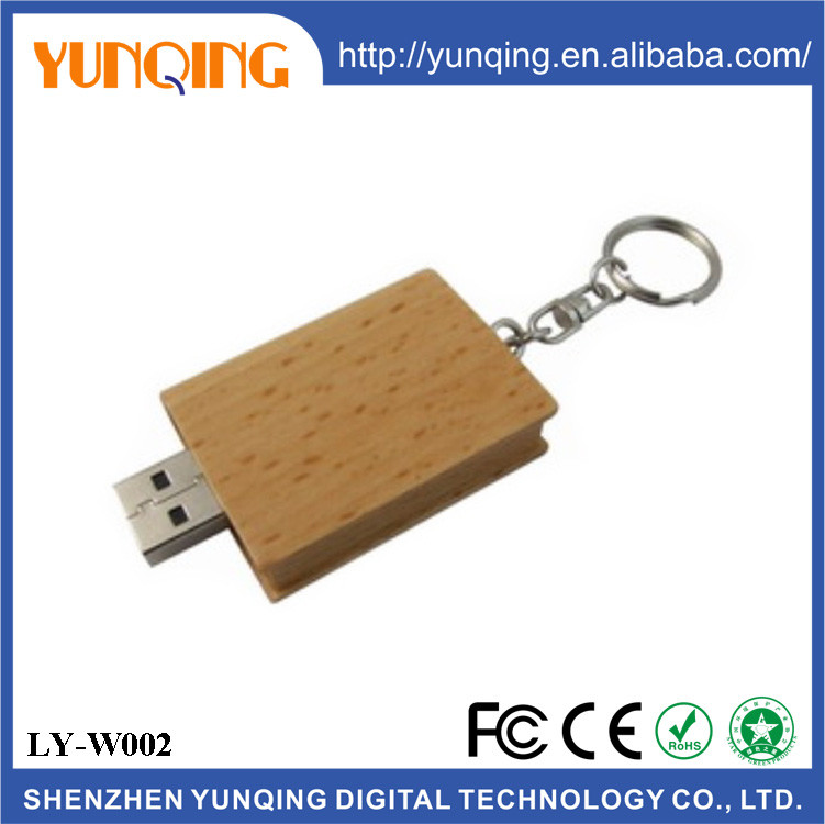 Eco Wood Book Shape USB Flash Drive 4GB 8GB 16GB