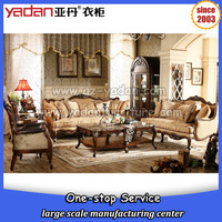 Luxury lobby wooden sofa set designs,sofa set pictures of wood sofa furniture