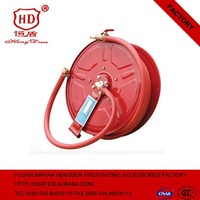 "Hot Sale 3/4""*30m Pvc Hose Manual Swing Type Fire Hose Reel With Surface Plastic"