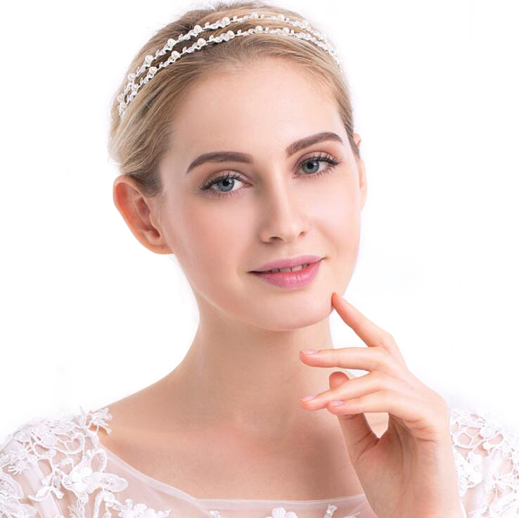 Bling Jewelry Heart Rhinestone Crystal Bridal Crown Silver Plated Flower Tiara