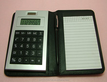 pvc pocket notepad calculator with pen