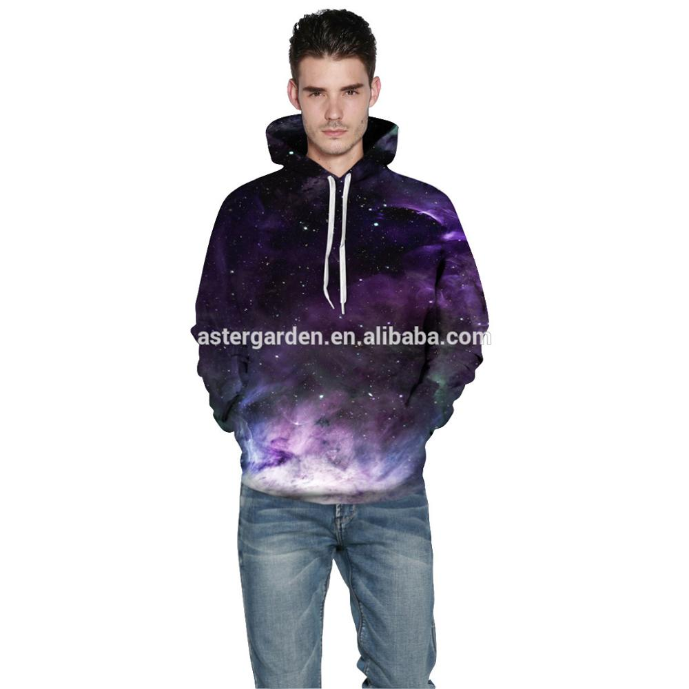 3D star printed lovers clothes plus-size hoodies With Kangaroo Pockets
