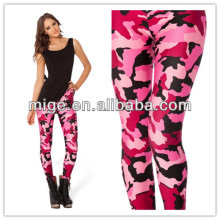 2014 hot pink spandex leggings camo pink leggings DL034