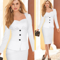 Europe popular fashion elegant women skirt suit slim winter warm party fancy mature lady office dress