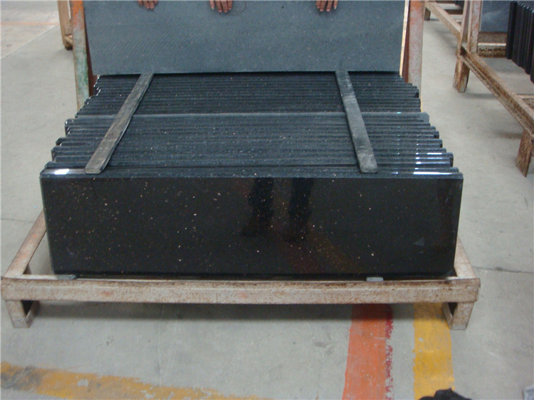 Granite Black Galaxy outdoor cheap granite tile