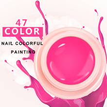 Lilyangel 47colors pure color paint blossom gel lacquer ,can be builder and painting nail pink