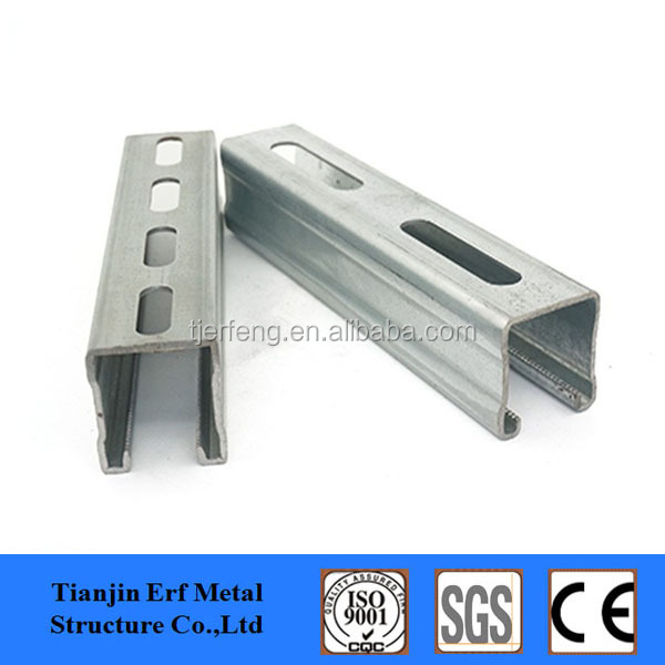 solar panle frame steel slotted c channel