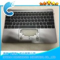 "Replacement Upper Case Gray Color For Macbook Pro Retina 12"" A1534  Year 2016 Topcase with US Keyboard"