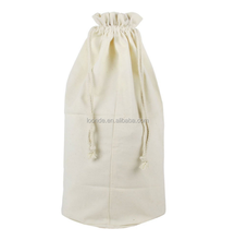 cotton canvas cheap plain drawstring bags with round bottom