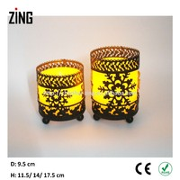 Candle holders made in india with led candle (IC-106)