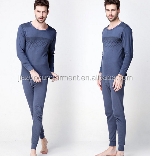 2017 New Arrival Personalized Your Own Brand Logo Design 100%Cotton Private Label Band Long Johns Heat Hot Men Thermal Underwear