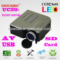 Promotion!!!UC20+ 1080P support led portable mini projector