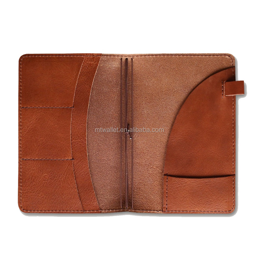 Wholesales handmade soft light brown real cow hide leather notebook cover; leather journal notebook leather with pencil holder