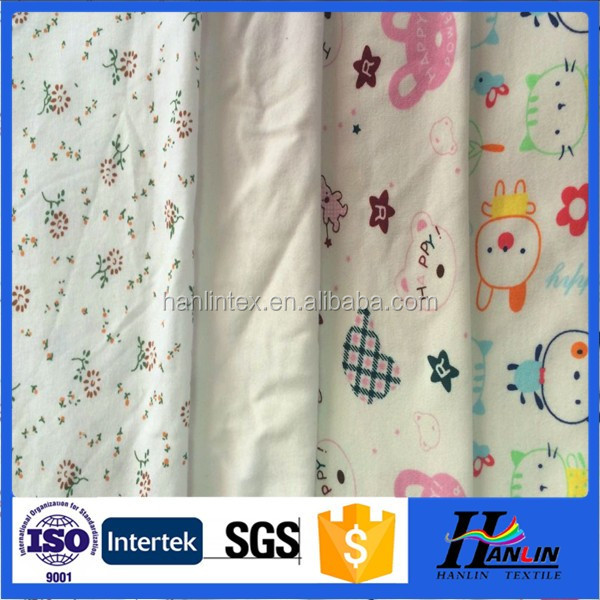 professinal enterprises cotton printed cartoon cloth baby bedding fabrics and raw material for baby diaper