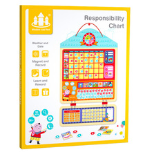 Children's Wooden Plan Table Baby Self-discipline Behavior Record Table Child Learning Incentive Table