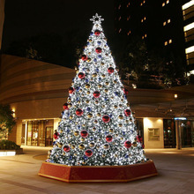 White Outdoor Lighted Christmas Tree for Shopping Plaza Decoration