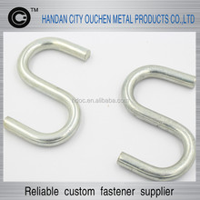 10mm Carbon steel,white zinc plated S-hook