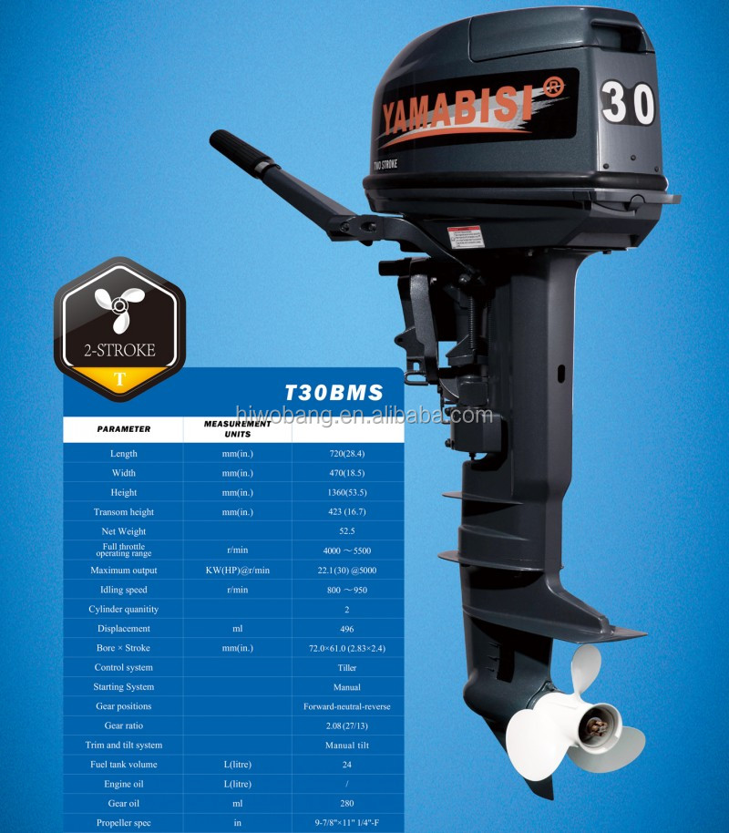 High quality 2 stroke 30 hp long shaft outboard engines for 30 hp outboard motors