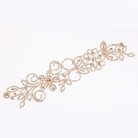 High quality wedding decorative fashion bling bling style crystal beads trim lace