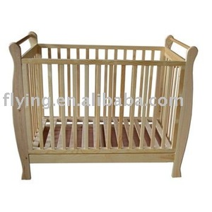 hard wood baby bed