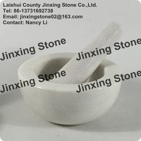 wholesale Stone mortar and pestle set Food Spice Grinder Solid Natural Marble Mortar with Pestle