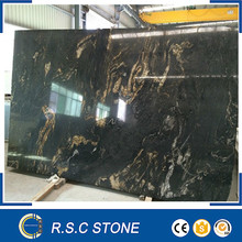 good price Cosmic black granite polished big slabs