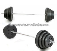 Cement Disc weight lifting black fill sand Olympic barbell