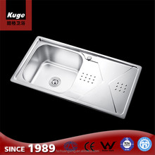 Single Bowl with drainer stainless steel 201 best sale vessel fiber kitchen sink wash basin