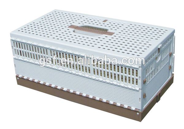 factory price plastic pet pigeon transport cage plastic folding pigeon cage with high quality