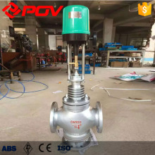 Electric Control 3 way Steam Flow Rate Pressure Control Valve