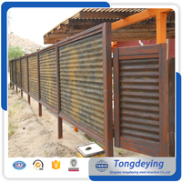 Security Metal Steel Privacy Iron Fencing Garden Steel Fences Corrugated Sheet Metal Fence Panels