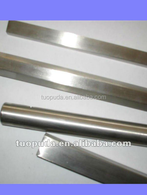 Baoji manufacturer supply titanium rod, square titanium rods