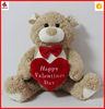 Promotional Valentine's Teddy Bear Gift With bow Soft Plush Heart Toy