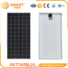 high efficiency 72 cells 345w mono photovoltaic solar panel