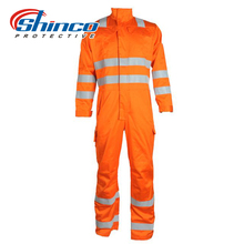 Reflective tape Safety fireproof work uniform for worker