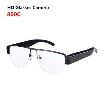 HD1080P Spy HD Video Camera Glasses with Clear Lenses_Metal Material_32G TF_Rechargerable Battery for 1Hour Recording