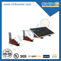 DIY solar panel installation for flat roof ballast mount
