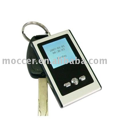Portable digital photo frame with keychain