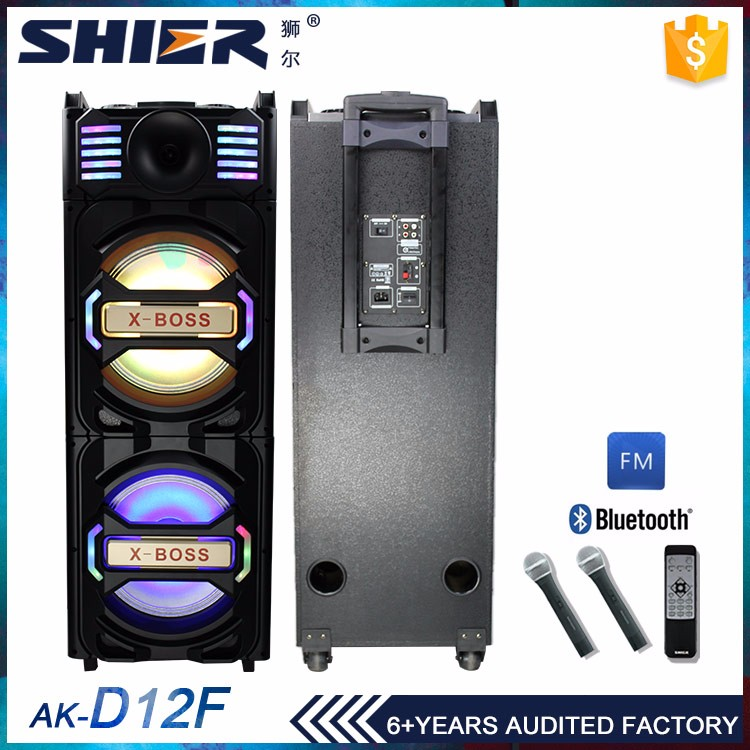 Wireless microphone bass flashing light furniture speaker