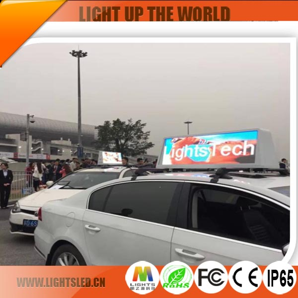 P4 Outdoor Advertising Taxi Top Led Display Module,Programmable Taxi Led Display Screen Roof Sign