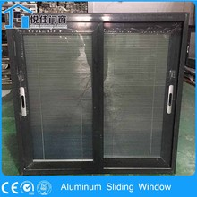 French style luxury black Aluminum sliding shed window use door profile to make window material