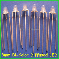 Factory Price Free Samples 3mm Bi-Color Diffused LEDs ( CE & RoHS Compliant )