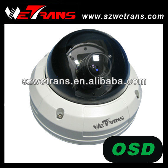 "WETRANS Dome 1/4"" Sharp 420TVL CCD IR Color Infrared Dome Camera"
