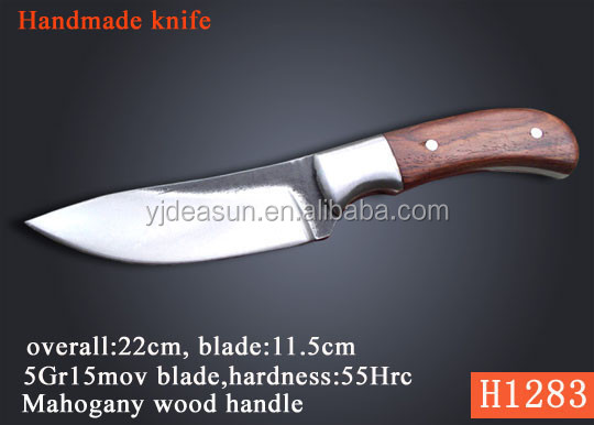 Hand Crafted Deer Horn Handle Fixed blade knife Hunting Knife