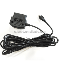 Smart Car Safe OBD2 16pin Male plug to Mini USB Power Charging Cable for Car digital Cam and GPS