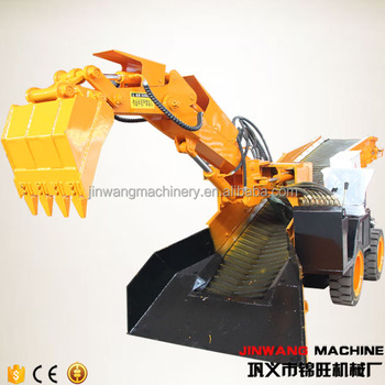 underground coal mining plant mucking rock loader